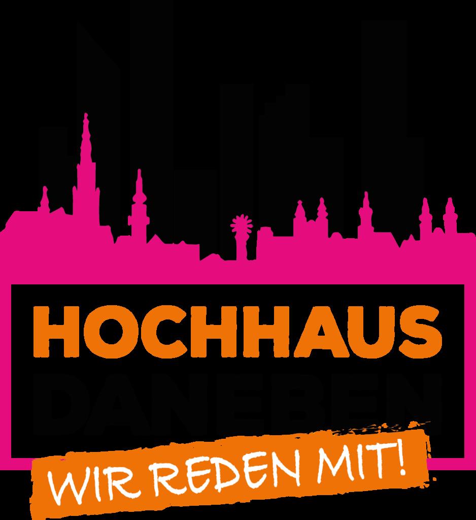 Hochhaus daneben